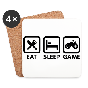 Eat Sleep Game - Coasters (set of 4)