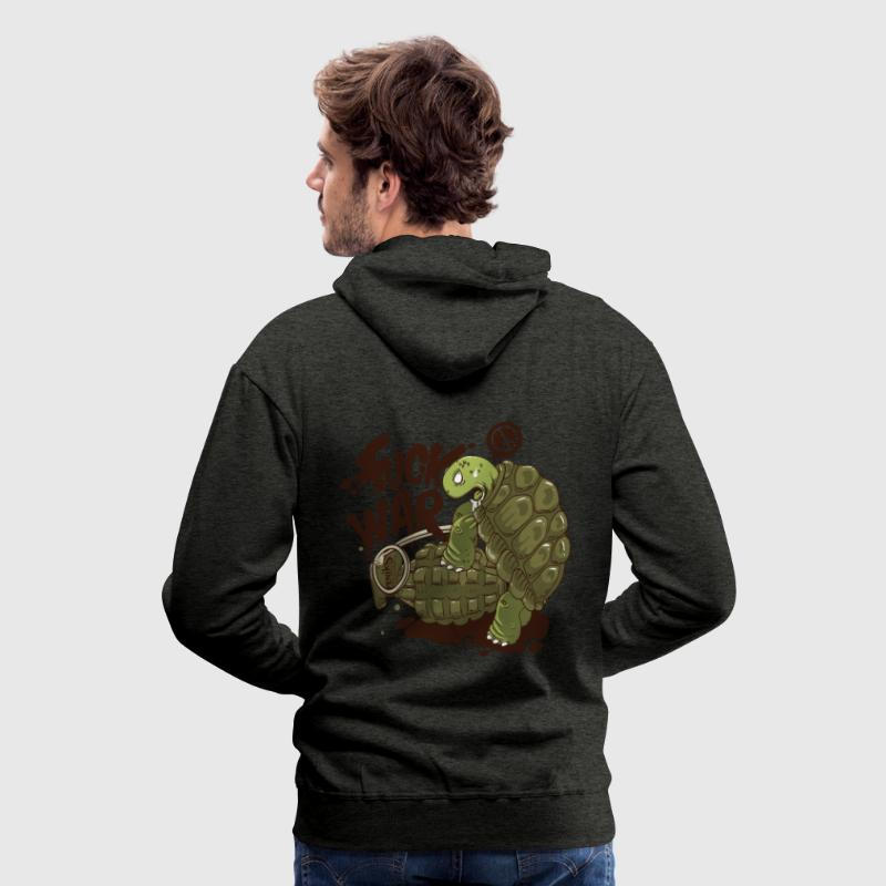 Humour Fuck War  Sweat-shirts - Sweat-shirt à capuche Premium pour hommes