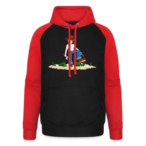 Tueur de Zombie - T-shirt Geek - Sweat-shirt baseball unisexe