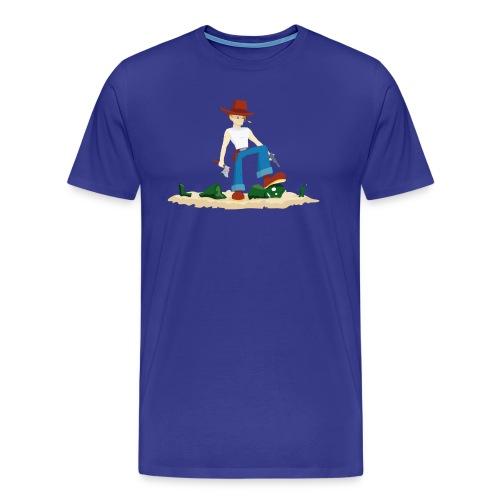 Tueur de Zombie - T-shirt Geek - T-shirt Premium Homme