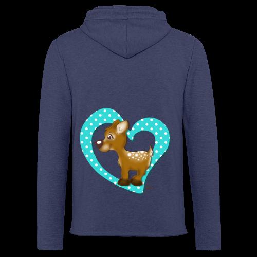 KinderShirt Kira Kitzi Aqua - Leichtes Kapuzensweatshirt Unisex