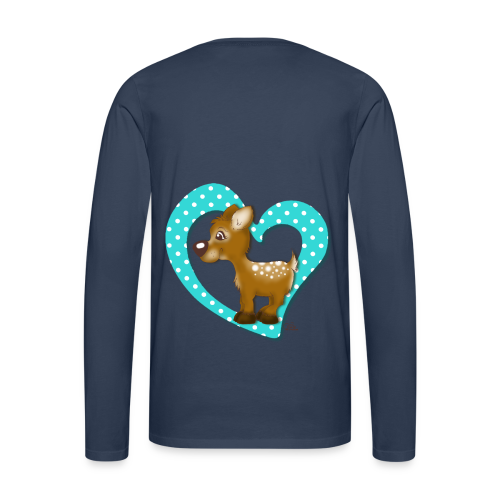 KinderShirt Kira Kitzi Aqua - Männer Premium Langarmshirt
