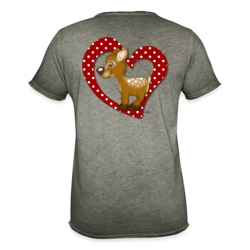 Kira Kitzi Fliepi - Männer Vintage T-Shirt
