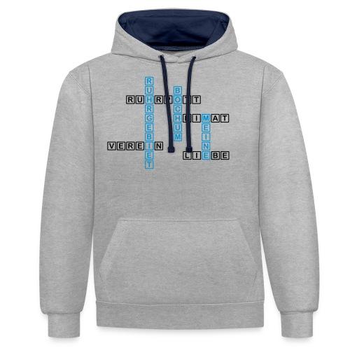 Ruhrpott - Bochum - Heimat - Liebe - Verein - T-Shirt - Kontrast-Hoodie