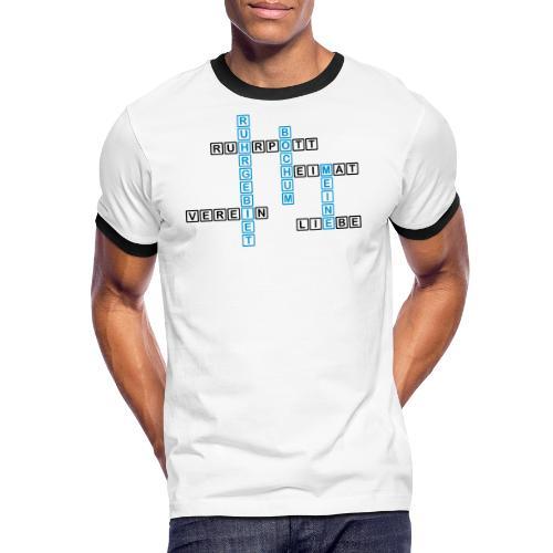 Ruhrpott - Bochum - Heimat - Liebe - Verein - T-Shirt - Männer Kontrast-T-Shirt