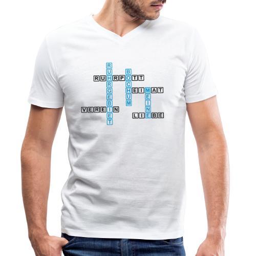 Ruhrpott - Bochum - Heimat - Liebe - Verein - T-Shirt - Männer Bio-T-Shirt mit V-Ausschnitt von Stanley & Stella