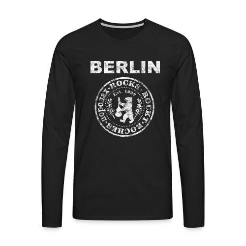 Berlin Rockt Vintage  Männer Shirt - Männer Premium Langarmshirt