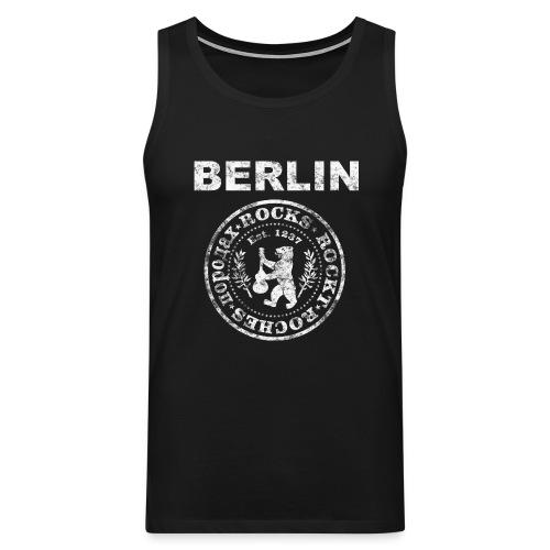 Berlin Rockt Vintage  Männer Shirt - Männer Premium Tank Top