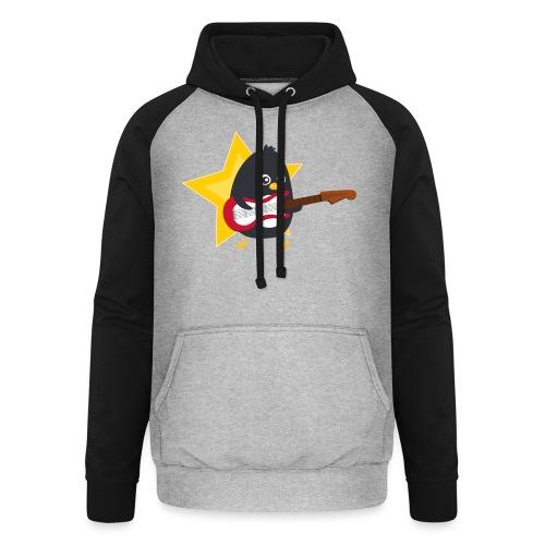 Pingouin Bassiste - Sweat-shirt baseball unisexe