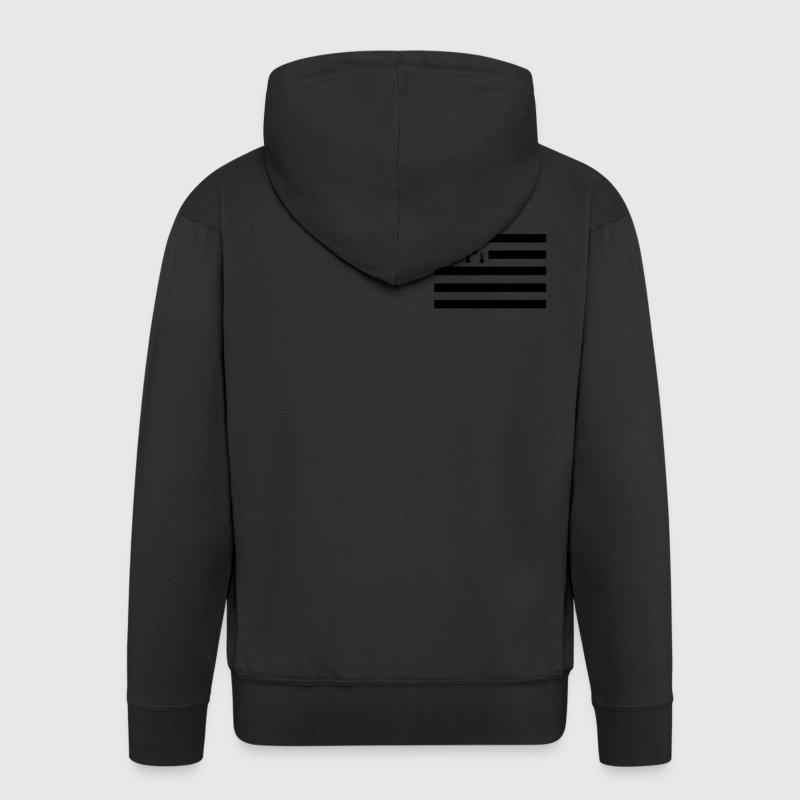 Drapeau Breton Sweat-shirts - Veste à capuche Premium Homme