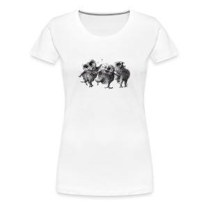 Drei verrückte Eulen - Frauen Premium T-Shirt