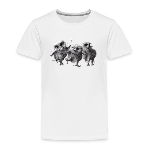 Drei verrückte Eulen - Kinder Premium T-Shirt