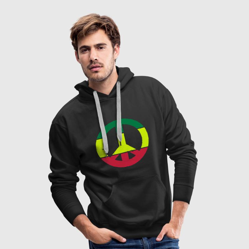 Peace and love rasta Sweat-shirts - Sweat-shirt à capuche Premium pour hommes