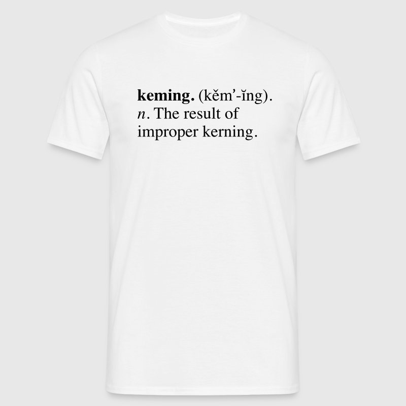 Kerning - Men's T-Shirt