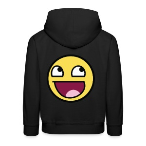 Awesome Smiley Emoticon Meme Boy T-Shirt - Kinder Premium Hoodie