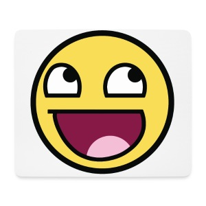Awesome Smiley Emoticon Meme Boy T-Shirt - Mousepad (Querformat)