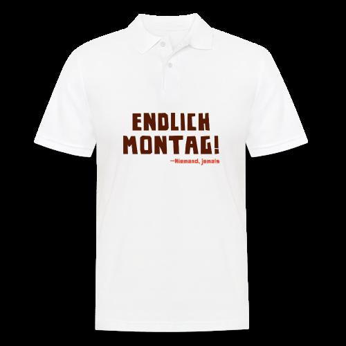 Endlich Montag! - Männer Poloshirt
