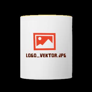 Logo_Vektor.jpg Tasse - Tasse zweifarbig
