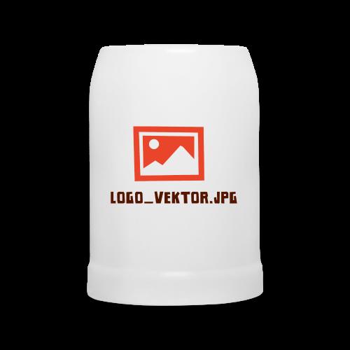 Logo_Vektor.jpg Tasse - Bierkrug