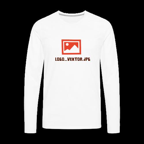 Logo_Vektor.jpg Tasse - Männer Premium Langarmshirt