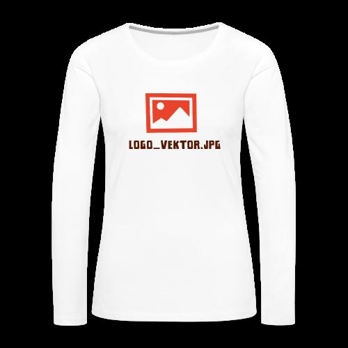 Logo_Vektor.jpg Tasse - Frauen Premium Langarmshirt