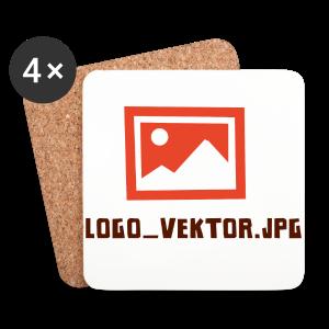 Logo_Vektor.jpg Tasse - Untersetzer (4er-Set)