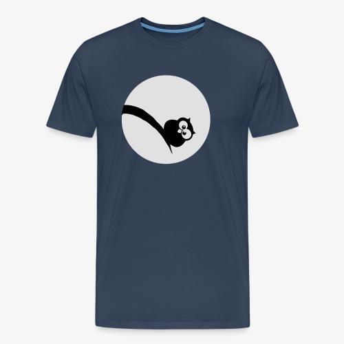 Owl Grubość w świetle księżyca Bluzy - Männer Premium T-Shirt