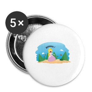T-shirt Geek - De la phobie des tortues - Badge petit 25 mm