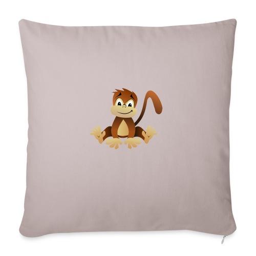 Baby Bio Lätzchen Cute Monkey - Sofakissenbezug 44 x 44 cm