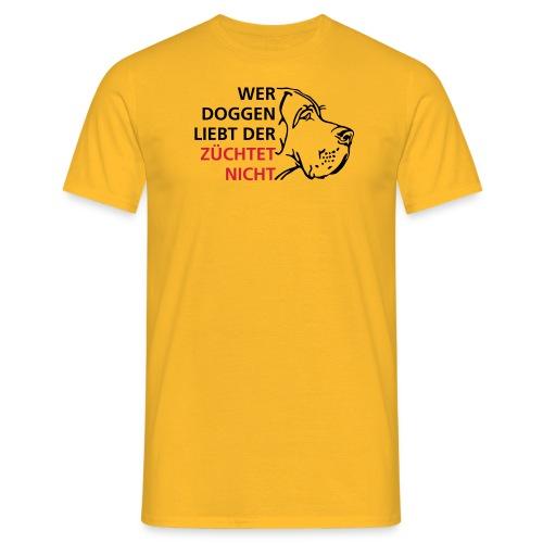 Wer Doggen liebt - Männer T-Shirt