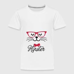 Love a hipsta hipster glasses bunny rabbit face Accessories - Børne premium T-shirt