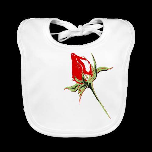 Rosen Frauenshirt - Baby Bio-Lätzchen