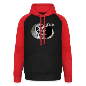 Grand Dame Grace by carographic @jute beutel black - Unisex Baseball Hoodie