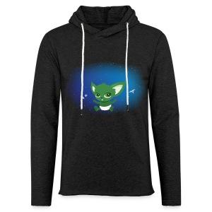T-shirt Geek - Baby Yodi - Sweat-shirt à capuche léger unisexe