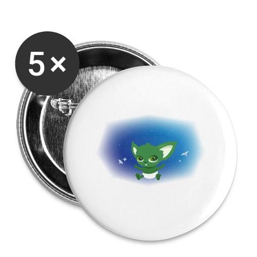 T-shirt Geek - Baby Yodi - Lot de 5 grands badges (56 mm)