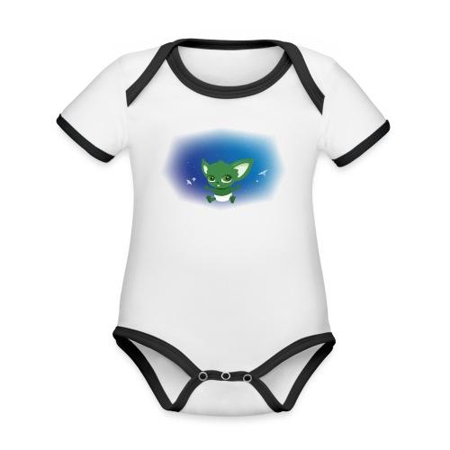 T-shirt Geek - Baby Yodi - Body Bébé bio contrasté manches courtes