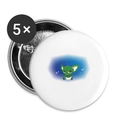 T-shirt Geek - Baby Yodi - Lot de 5 moyens badges (32 mm)