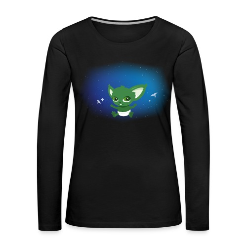 T-shirt Geek - Baby Yodi - T-shirt manches longues Premium Femme