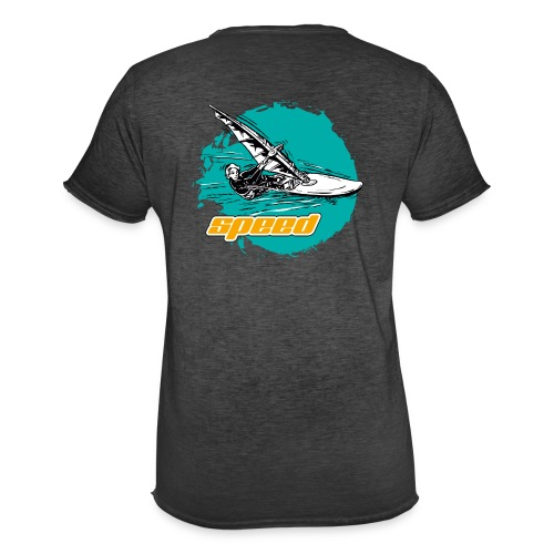 Speed Windsurfer Tuerkis - Männer Vintage T-Shirt