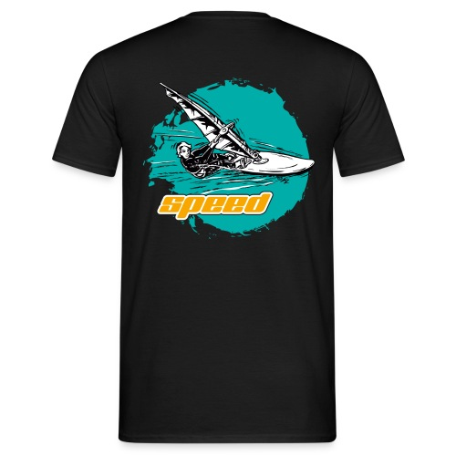 Speed Windsurfer Tuerkis - Männer T-Shirt