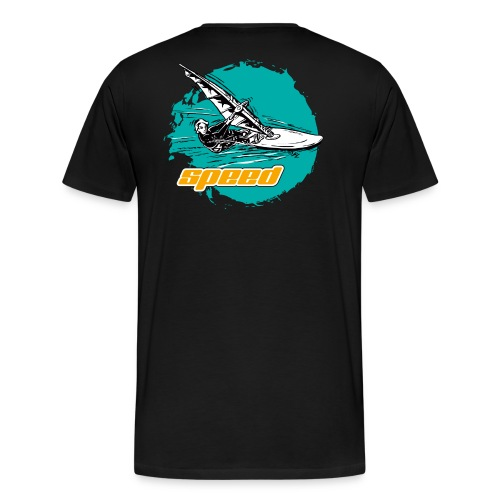 Speed Windsurfer Tuerkis - Männer Premium T-Shirt