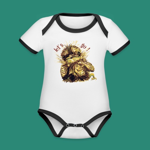 let`s goFrauen-T-Shirt - Baby Bio-Kurzarm-Kontrastbody