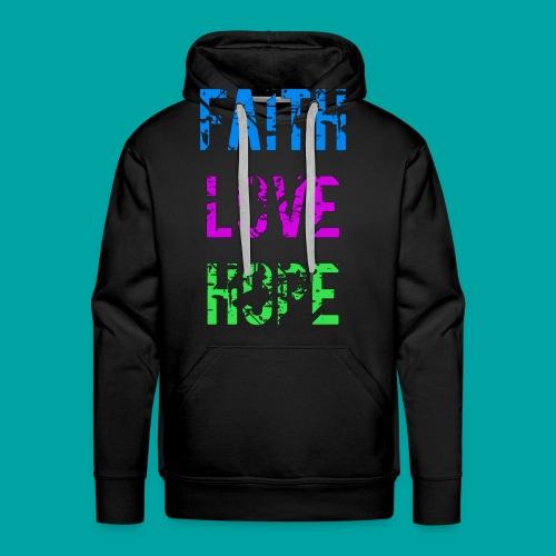 Faith Love Hope - Männer Premium Hoodie
