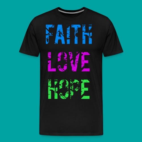 Faith Love Hope - Männer Premium T-Shirt