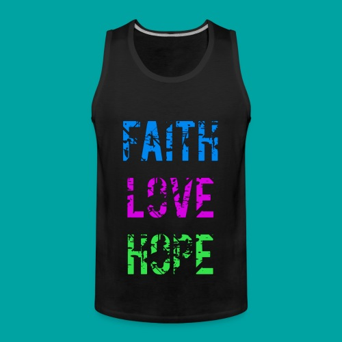 Faith Love Hope - Männer Premium Tank Top