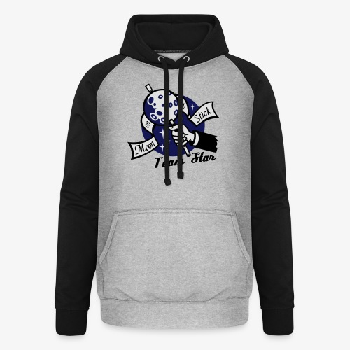 Moon on a Stick Team Star - Unisex Baseball Hoodie