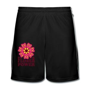Flower Power . Camiseta ecológica Mujer - Pantalones cortos de fútbol hombre