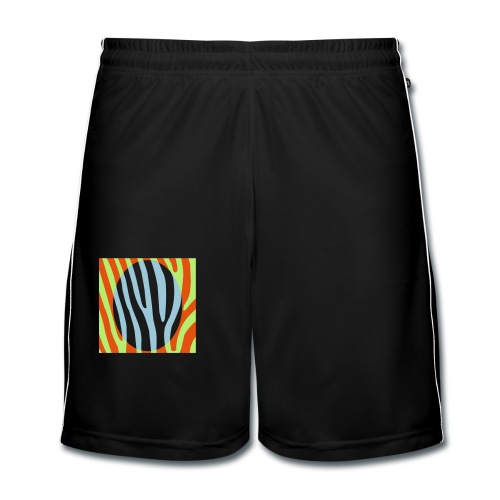 Zebra auf Ei - Männer Fußball-Shorts