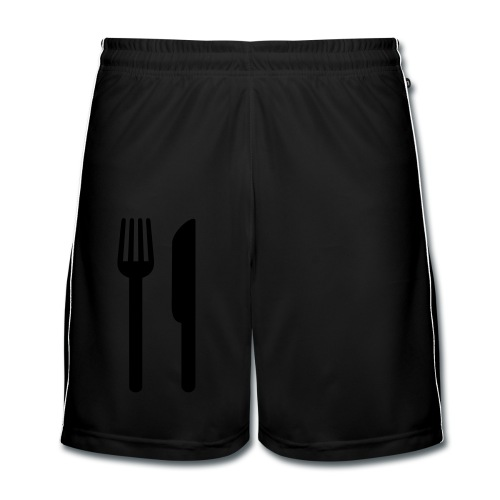 cuchillo y tenedor. Delantal de cocina - Pantalones cortos de fútbol hombre