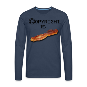 COPYRIGHT IS BACON (unisex) - Herre premium T-shirt med lange ærmer